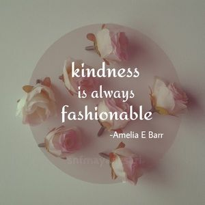 Be kind😉